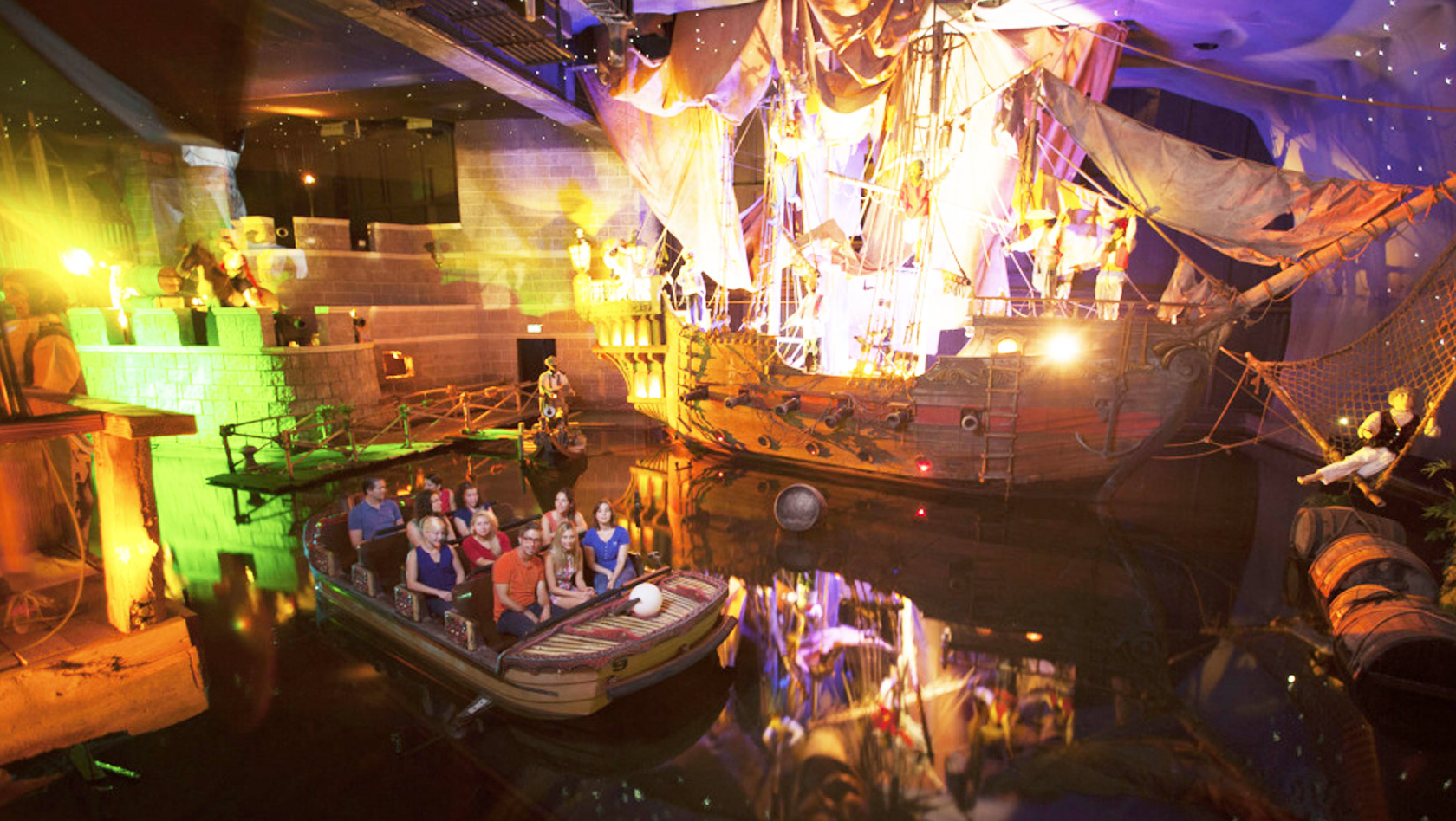 Piraten in Batavia Europa-Park Wasser-Bootfahrt