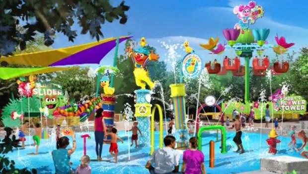 SeaWorld Orlando Wasserspielplatz Sesame Street Artwork