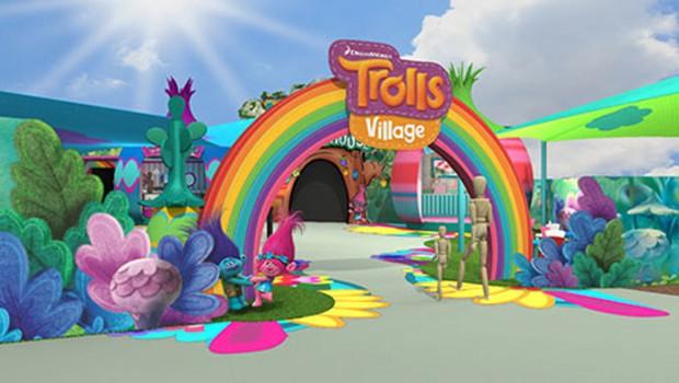 Trolls Village Rendering DreamWorld Australia