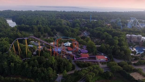 Busch Gardens Williamsburg von oben