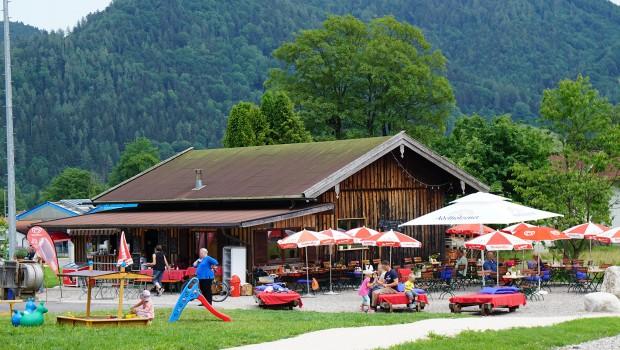 Chiemgau Coaster restaurant Alm Biergarten