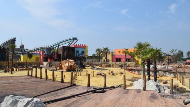 Toverland Port Laguna Baustelle Juni 2018