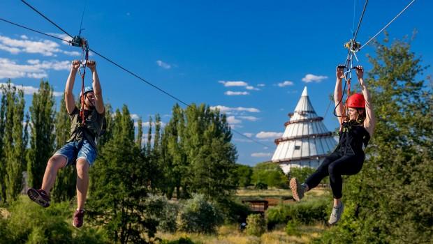 Elbauenpark Seilrutsche Elbauenzip