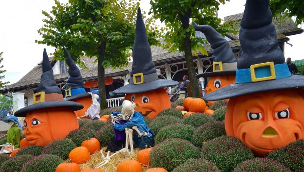 Kürbiss-Dekoration an Halloween 2018 im Gardaland