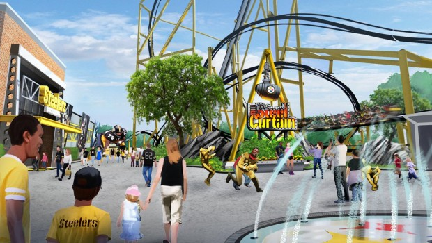 Steel Curtain Plaza in Kennywood Artwork