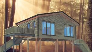 allrounder mountain resort arbeitet an BaumChalets: Übernachten zwischen Baumwipfeln