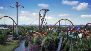 Canada's Wonderland Dive Coaster 2019 Yukon Striker Rendering