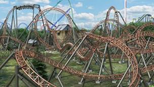 Carowinds 2019 Copperhead Strike Rendering