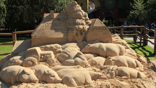 Erlebnis-Zoo hannover Sandskulptur von Wladimir Degtyarov