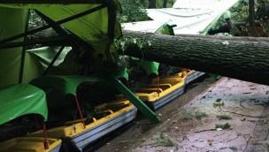 Erse-Park geschlossen: Schwere Sturmschäden im Freizeitpark in Ütze