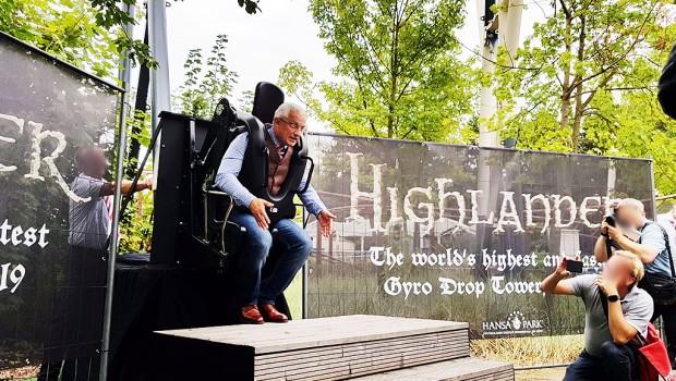 Hansa Park Free Fall Tower 2019 Highlander neu Ankündigung