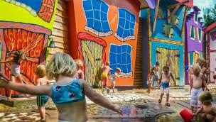 Het Land van Jan Klaassen Freizeitpark Gelderland Wasserspielplatz