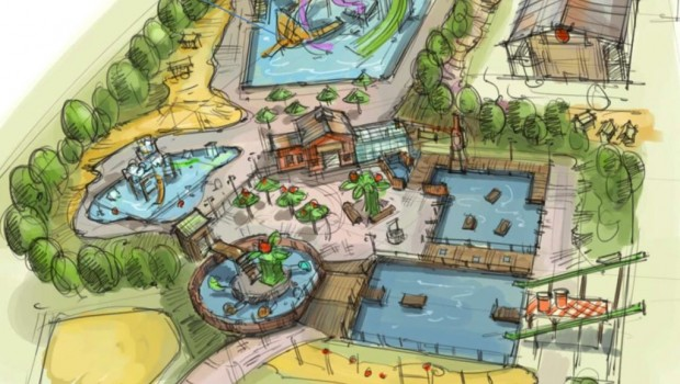 Karls Berlin Wasserpark Schwimmbad Konzeptgrafik
