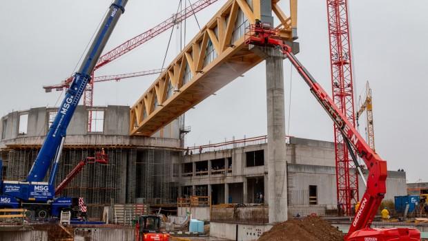 Rulantica Baustelle Dach Holzbinder
