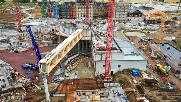 Rulantica Baustelle Dachkonstruktion