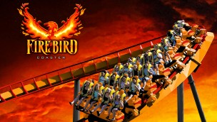 Six Flags America Firebird Rendering