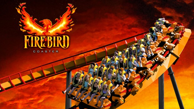Six Flags America Firebird Rendering