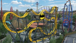 "Six Flags Discovery Kingdom 2019 neu mit Free-Fly-Achterbahn ""Batman: The Ride"""