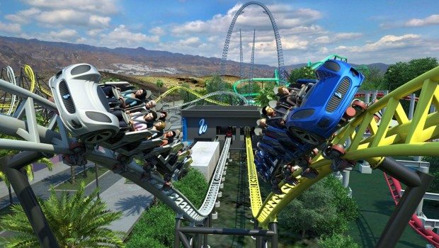 Six Flags Magic Mountain 2019 West Coast Racers Rendering