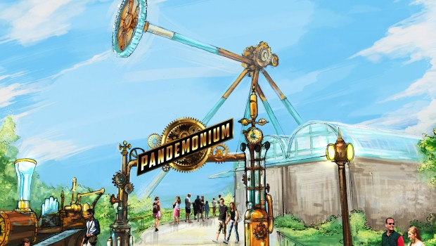 Six Flags Over Georgia 2019 Pandemonium Screampunk Artwork