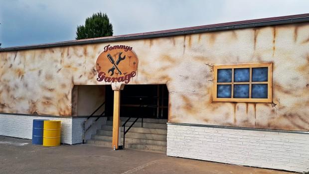 Tommys Garage Schwaben Park Eingang