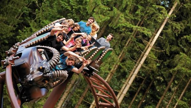 Die Bergachterbahn des Freizeitparks Ruhpolding