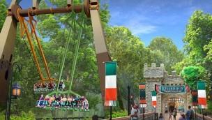 """Busch Gardens Williamsburg eröffnet 2019 neue Riesen-Schaukel """"Finnegan's Flyer"""""""