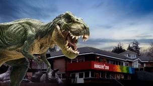 "Burgers' Zoo im Oktober 2018 mit ""Dino's In The Zoo"": Dinosaurier in Arnheimer Tierpark"