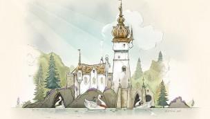 Efteling die Sechs Schwäne im Märchenwald - Skizze