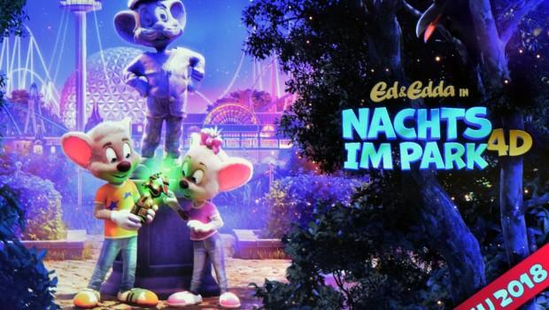 Europa-Park 2018 neu 4D Film Nachts im Park