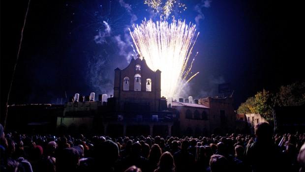Feuerwerk beim Herbstzauber im Hansa-Park