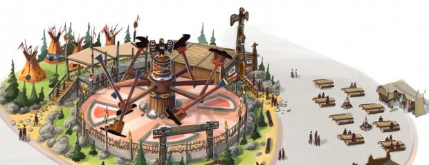 Indianer Valley FORT FUN ABenteuerland Konzeptgrafik