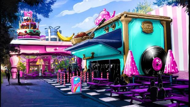 Auch das Restaurant vor der Achterbahn wird umgestaltet. (Foto: Plopsaland De Panne)