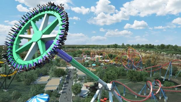 Six Flags Fiesta Texas The Joker Wild Card neu 2019
