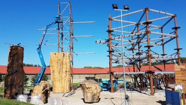 Slagharen Black Hill Ranger Path Baustelle 2018
