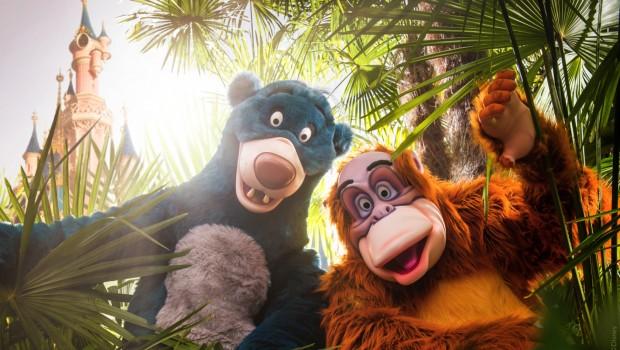 Dschungelbuch Disneyland Paris Baloo und King Lui