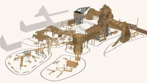 Erlebnispark Tripsdrill eröffnet 2019 neuen Sägewerk-Erlebnis-Spielplatz