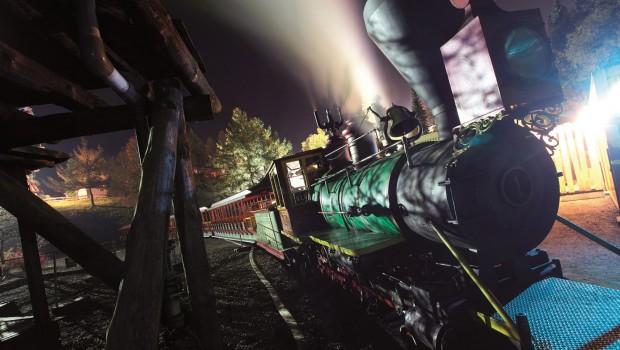 FORT FUN Abenteuerland - Santa Fe Express bei Nacht