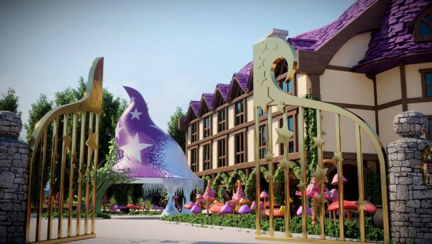 Gardaland Magic Hotel Rendering Eingang