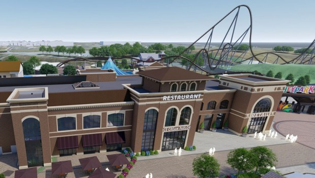 Hersheypark 2020 Coater Rendering ENtry Restaurant