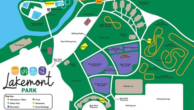 Neue Karte des Lakemont Park