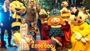 Plopsa Indoor Coevorden begrüßt zwei-millionsten Besucher seit Eröffnung