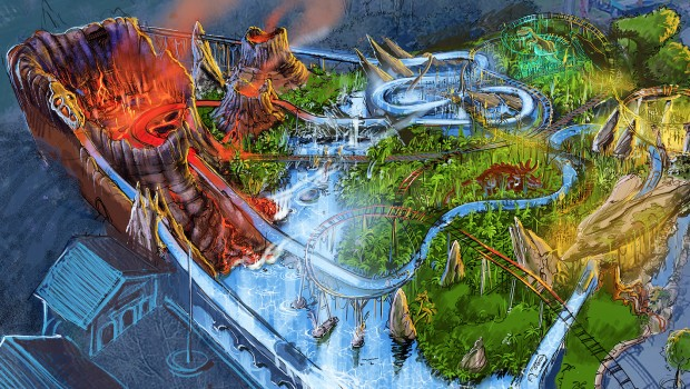 Plopsaland De panne 2019 Dino Splash Artwork
