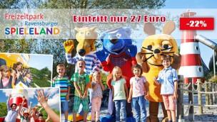 Günstige Tickets für Ravensburger Spieleland erhältlich: Eintritt mit Gutschein nur 27 € (statt 34,50 €)