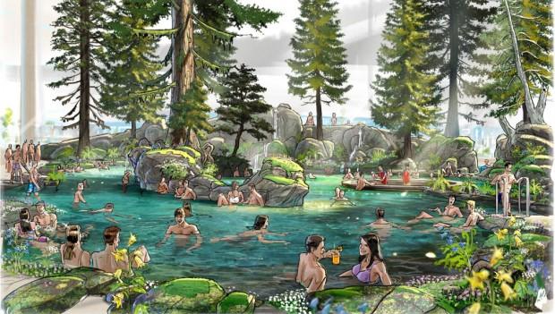 Europa-Park Rulantica Artwork Skog Lagune