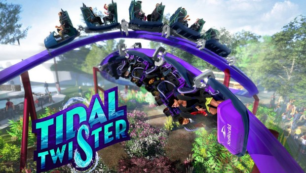 SeaWorld San Diego 2019 Tidal Twister Artwork
