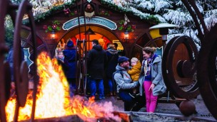 Winter Efteling Lagerfeuer