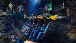 Batman Knight Flight Warner Bros World Abu Dhabi Rendering