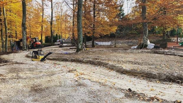 Freizeitpark Sonnenbühl Traumland neue Attraktion 2019 Vorbereitung im Wald