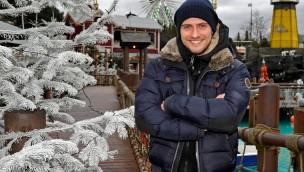 Jörn Schlönvoigt im Europa-park im Winter